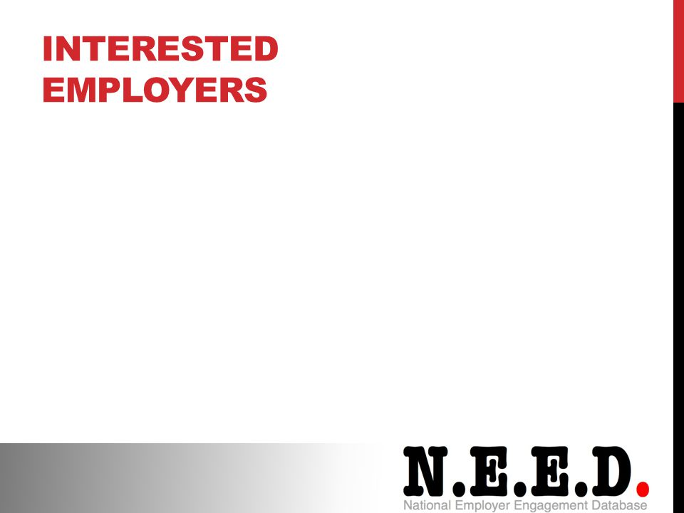 INTERESTED EMPLOYERS