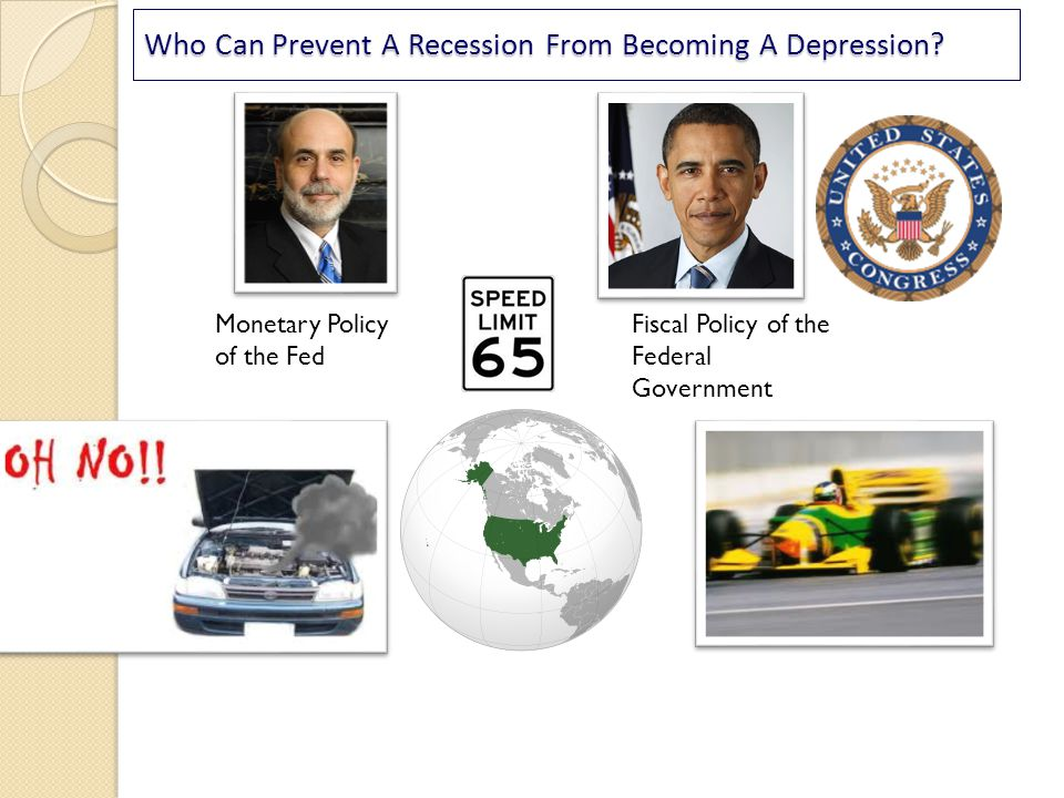 Who Can Prevent A Recession From Becoming A Depression? Monetary Policy of the Fed Fiscal Policy of the Federal Government