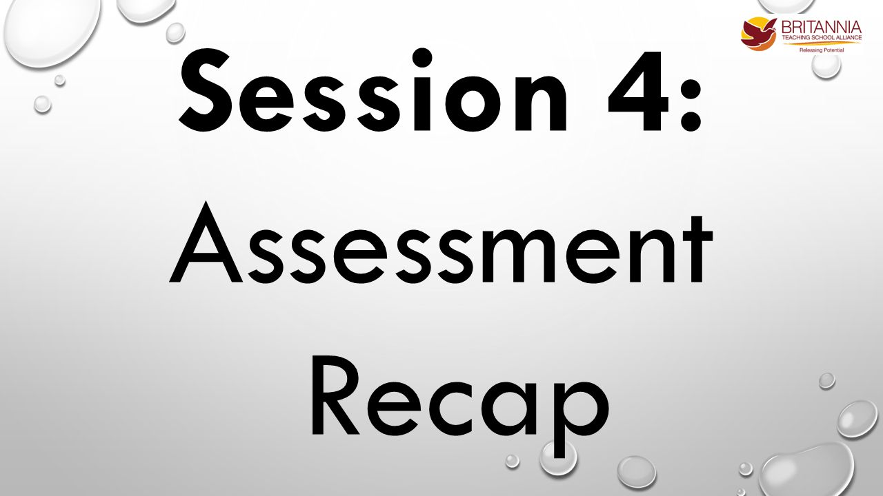 Session 4: Assessment Recap