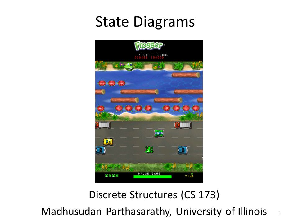 State Diagrams Discrete Structures (CS 173) Madhusudan Parthasarathy, University of Illinois 1