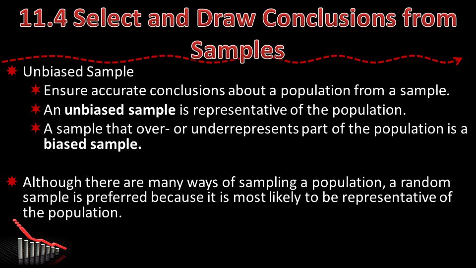  Unbiased Sample  Ensure accurate conclusions about a population from a sample.