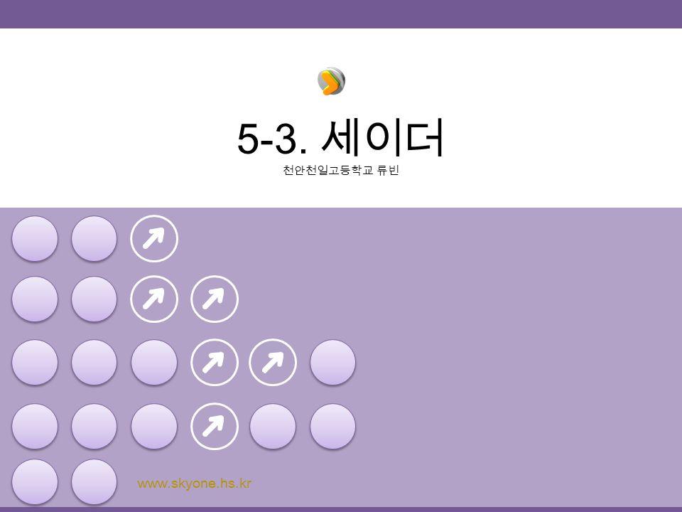 5-3. 세이더 천안천일고등학교 류빈 www.skyone.hs.kr