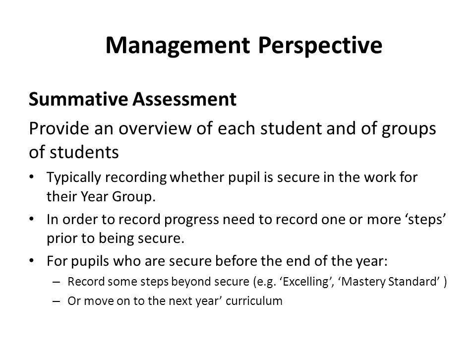 Monitoring Progress – Within a Year Progress can be monitored within a School Year – Typically a pupil will start the Year at the first step for that year and by the end of the year will be at least secure for that Year.