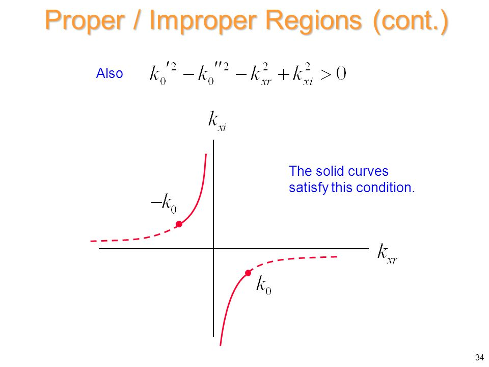 Proper / Improper Regions (cont.) Also The solid curves satisfy this condition. 34