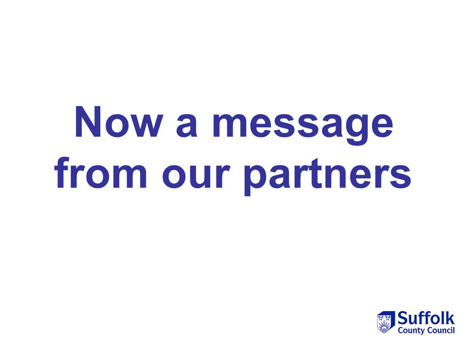 Now a message from our partners