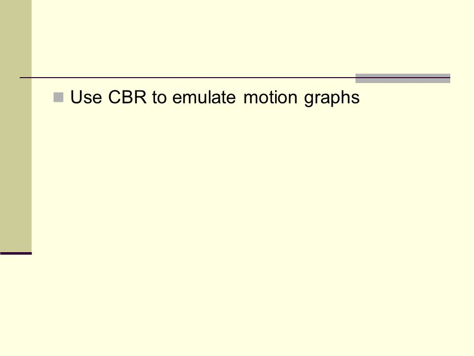 Use CBR to emulate motion graphs
