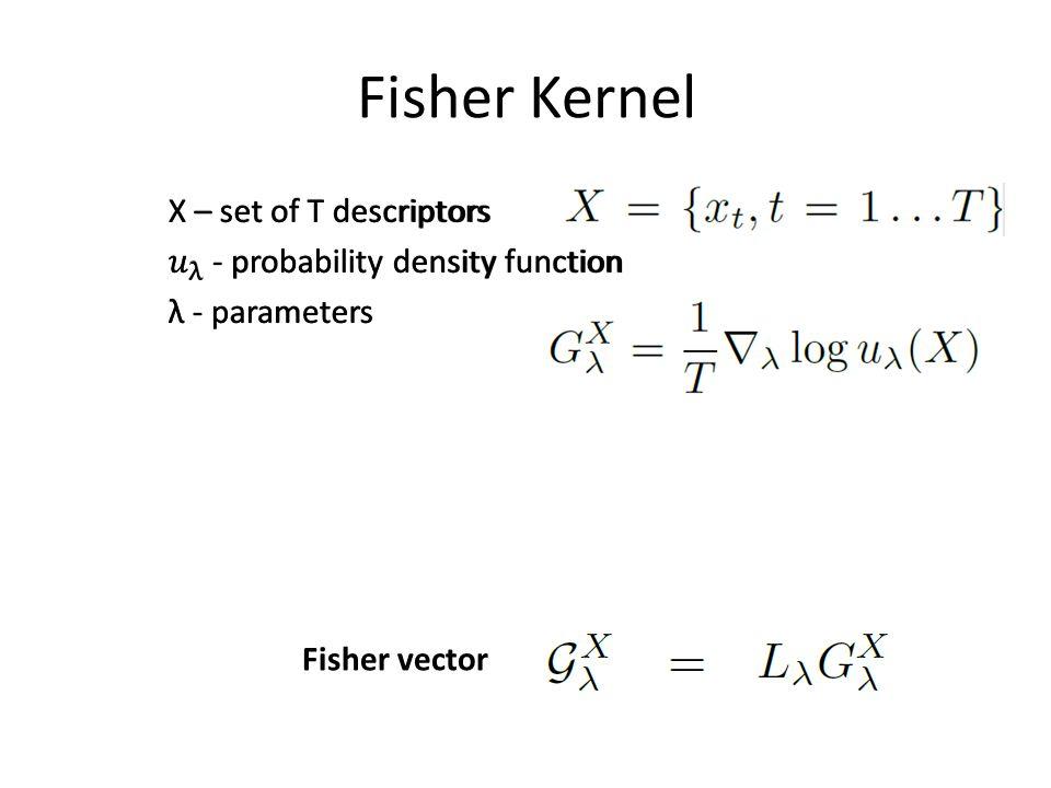 Fisher Kernel Fisher vector