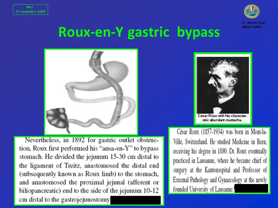 Roux-en-Y gastric bypass Et lucem sed aliam reddit… Bari 27 novembre 2009