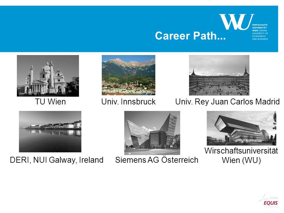 Career Path... Univ. Rey Juan Carlos MadridTU WienUniv.