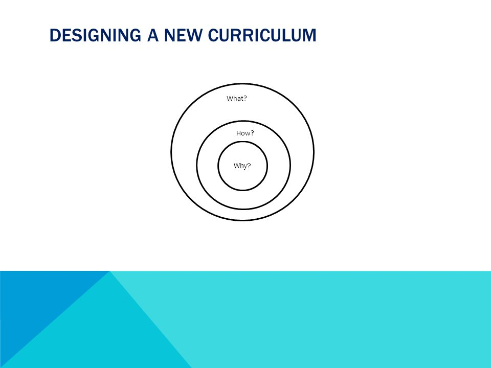DESIGNING A NEW CURRICULUM How Why Why How What