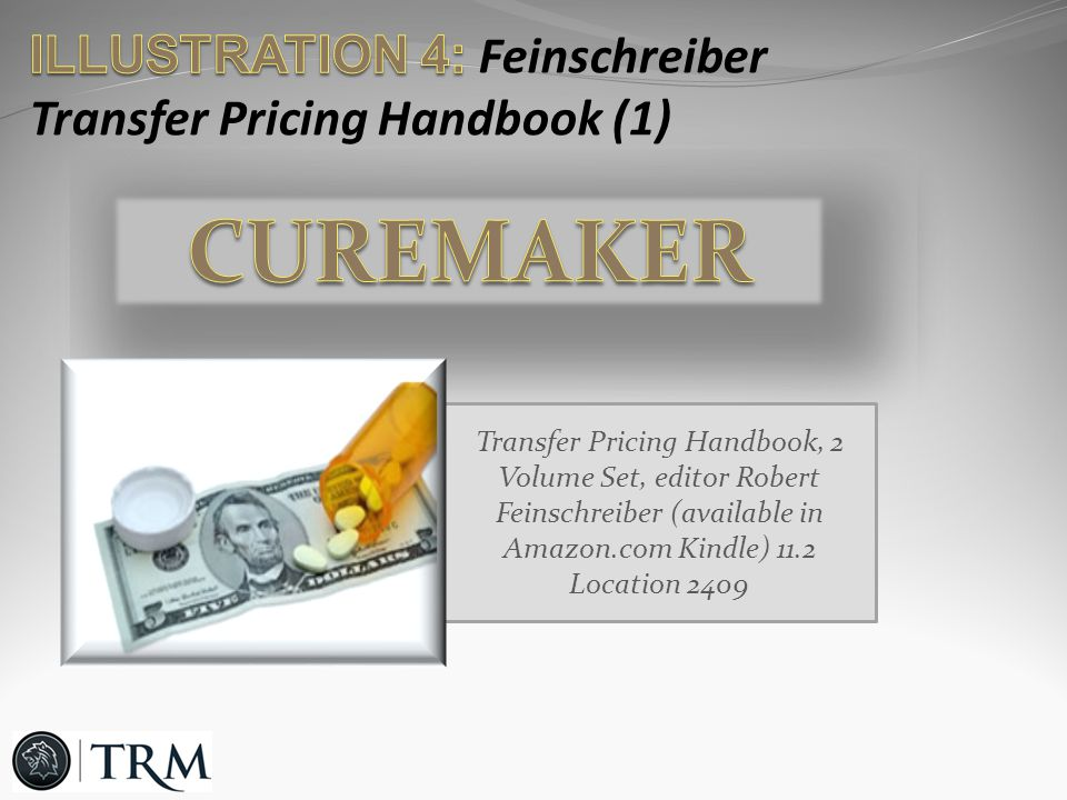 Transfer Pricing Handbook, 2 Volume Set, editor Robert Feinschreiber (available in Amazon.com Kindle) 11.2 Location 2409