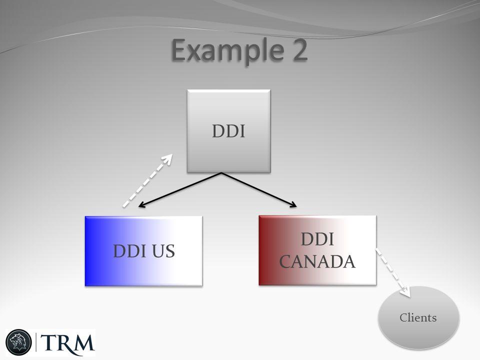 Example 2 DDI DDI US DDI CANADA DDI CANADA Clients