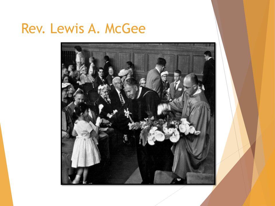 Rev. Lewis A. McGee