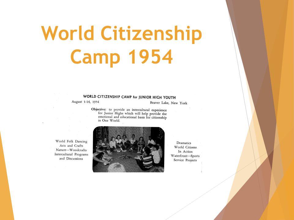 World Citizenship Camp 1954