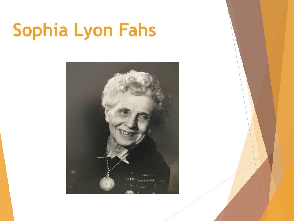 Sophia Lyon Fahs