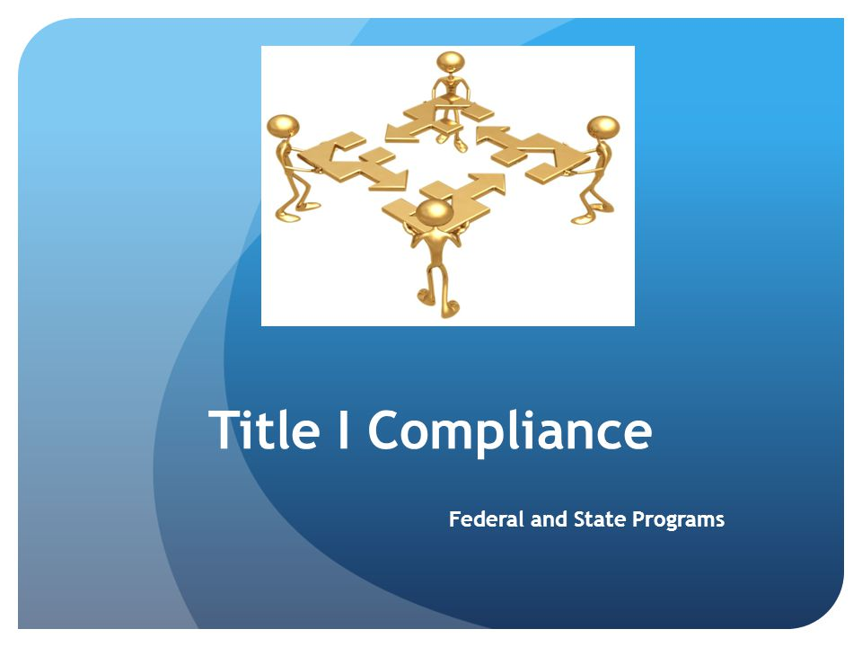 Goal of Title I To help ensure that all children have the opportunity to obtain a high-quality education and reach proficiency on challenging state academic standards and assessments 2