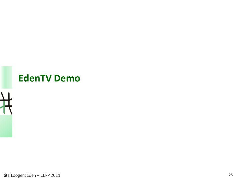 EdenTV Demo 25 Rita Loogen: Eden – CEFP 2011