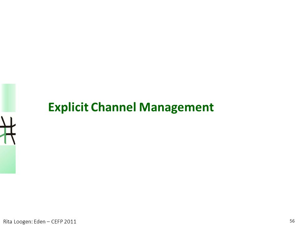 56 Rita Loogen: Eden – CEFP 2011 Explicit Channel Management