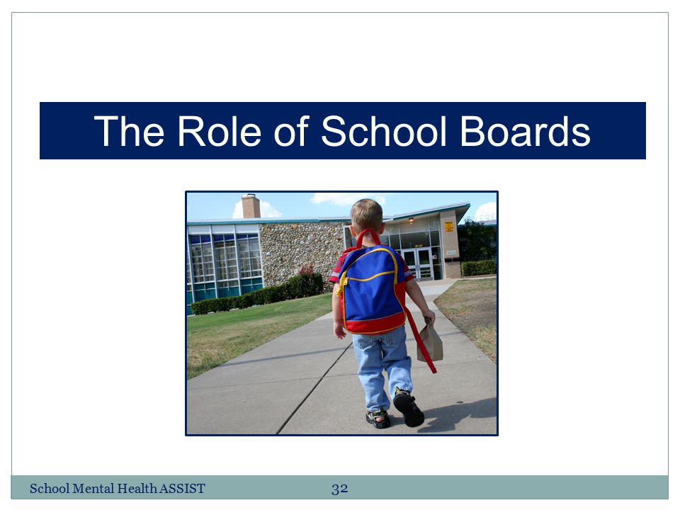 32 The Role of School Boards