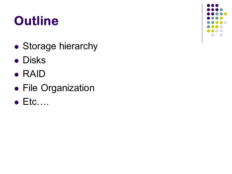 File Organization How are the relations mapped to the disk blocks .
