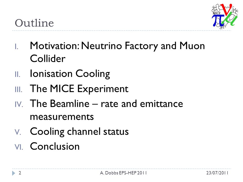 Outline I. Motivation: Neutrino Factory and Muon Collider II.