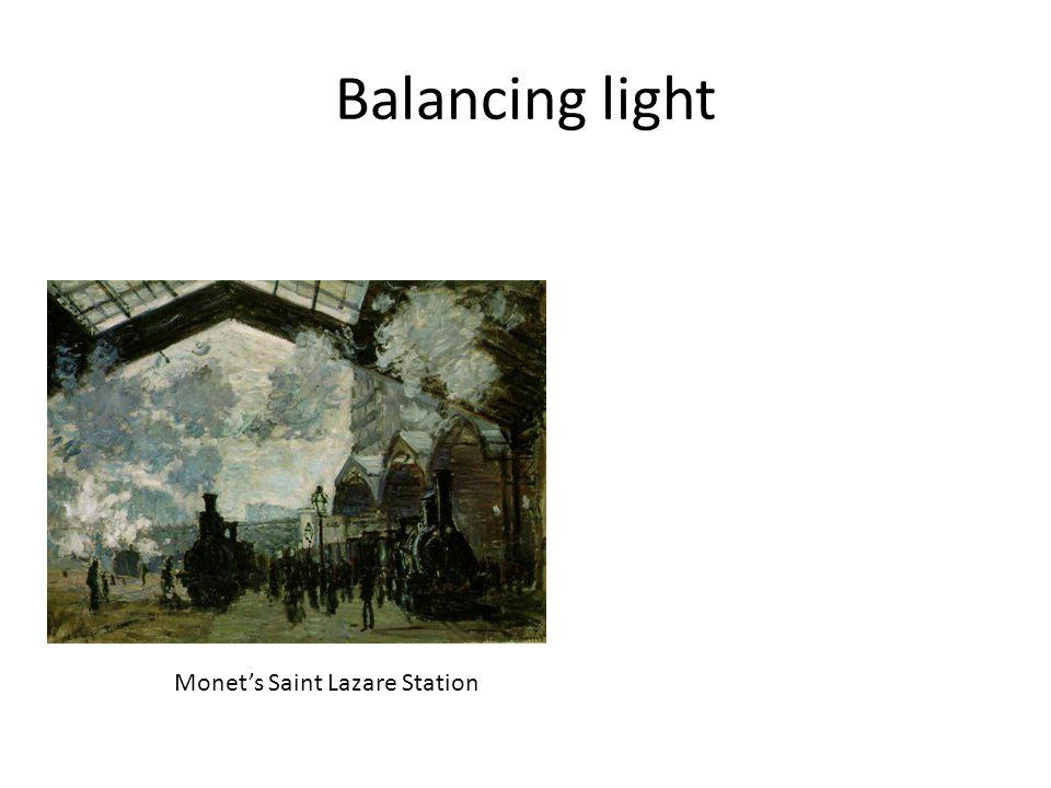 Balancing light Monet's Saint Lazare Station
