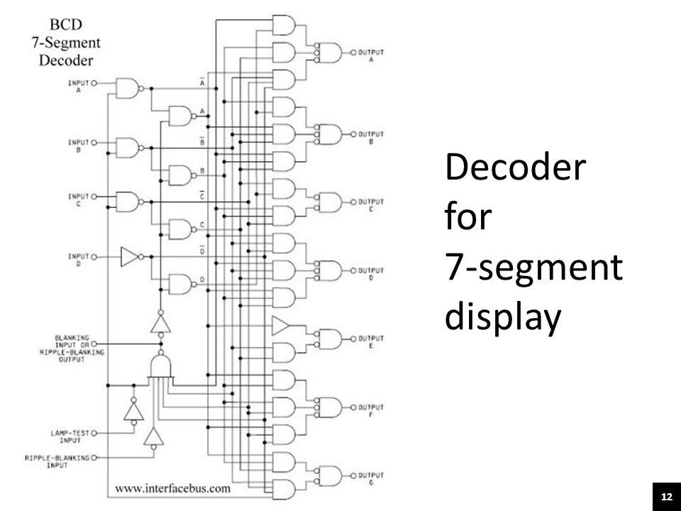 12 Decoder for 7-segment display