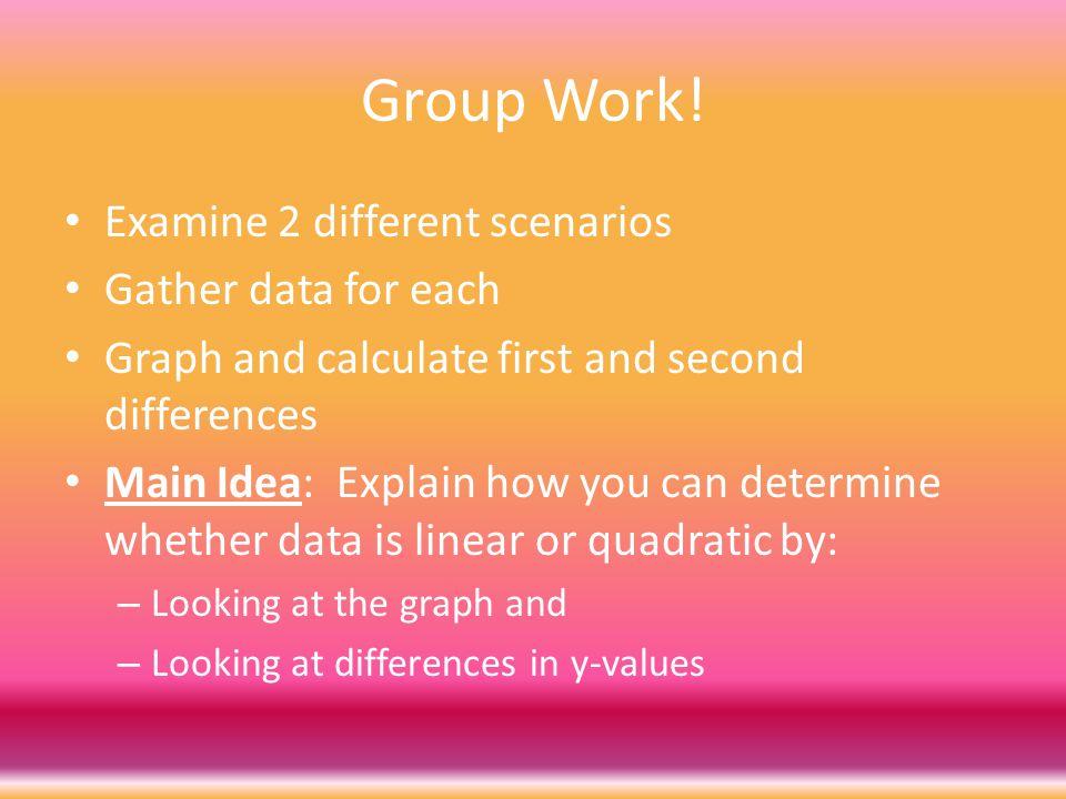 Group Work.