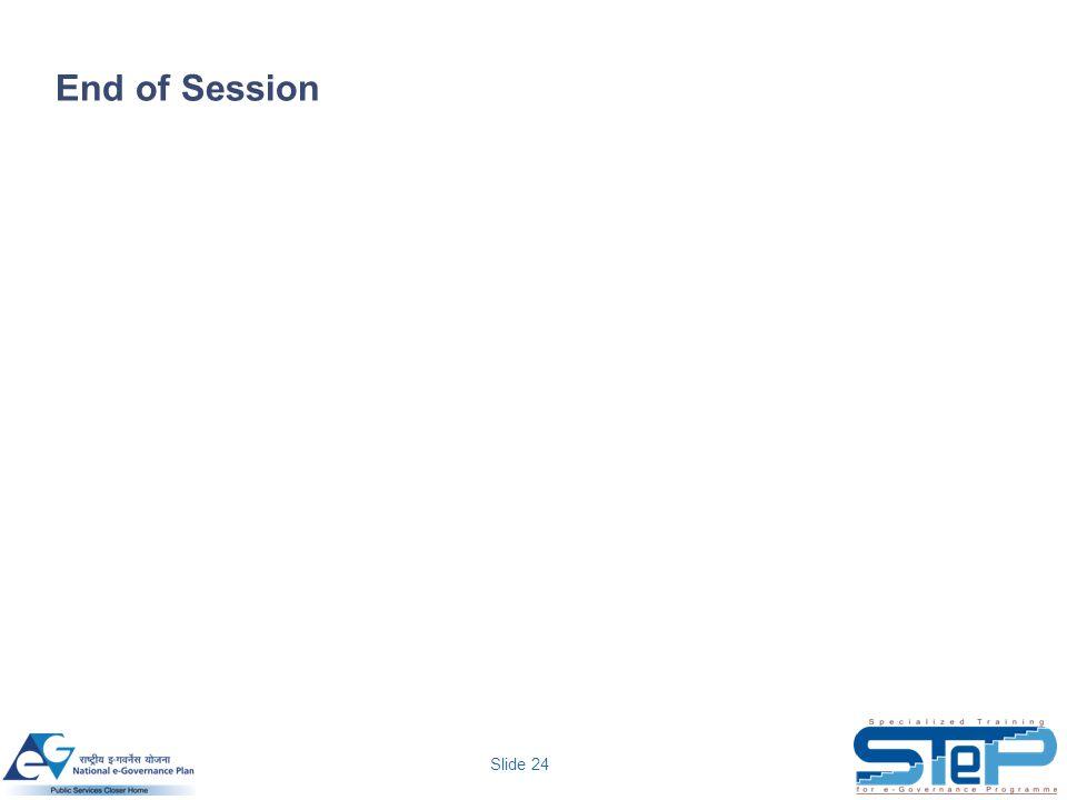 Slide 24 End of Session