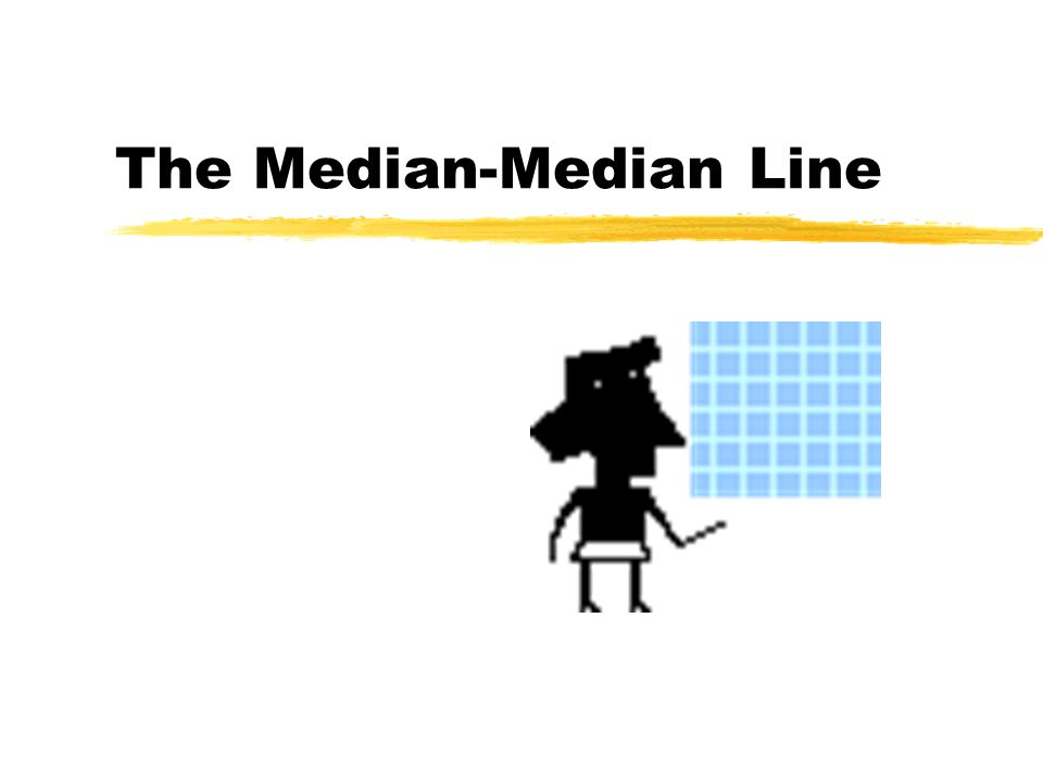 Almost there.zNow, we have the slope of the median- median line.