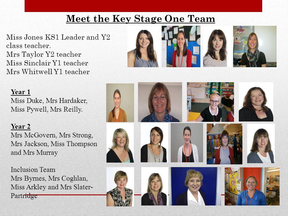 Meet the Key Stage One Team Miss Jones KS1 Leader and Y2 class teacher.