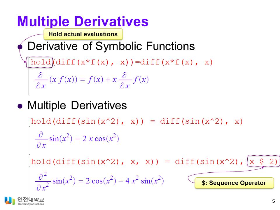 Value of Derivative at a Point Functions Expressions 6
