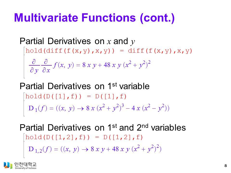 Jacobian Partial derivatives 9