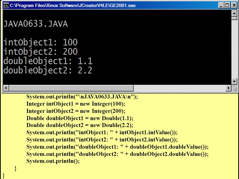 // Java0633.java // This program introduces the class.