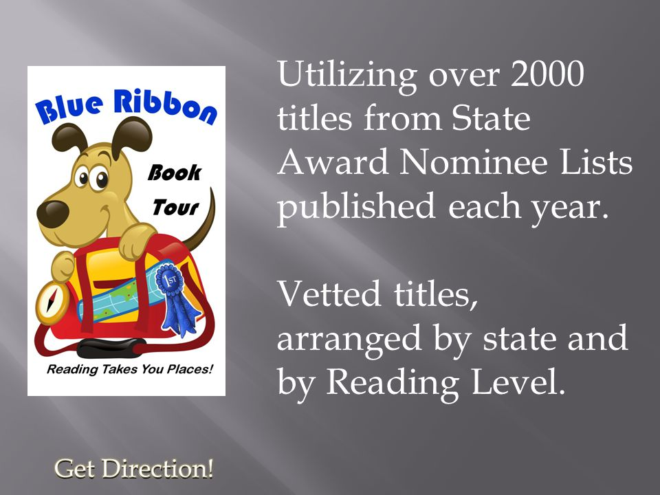 Utilizing over 2000 titles from State Award Nominee Lists published each year.