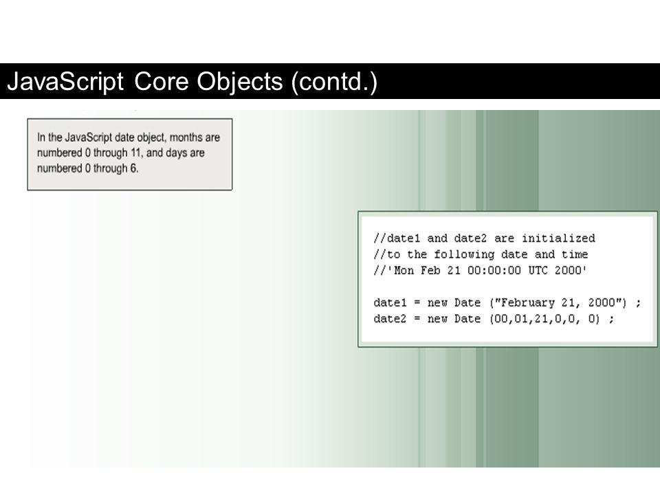 JavaScript Core Objects (contd.) FaaDoOEngineers.com