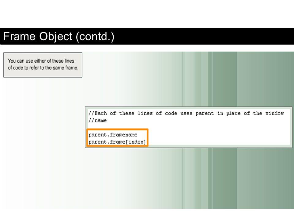 Frame Object (contd.) FaaDoOEngineers.com