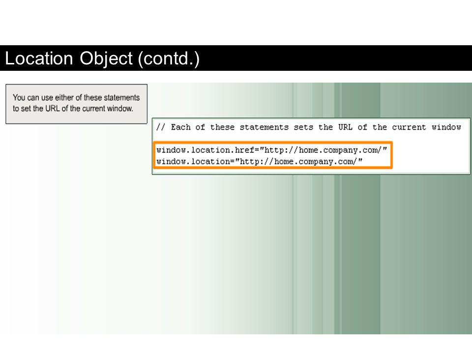 Location Object (contd.) FaaDoOEngineers.com