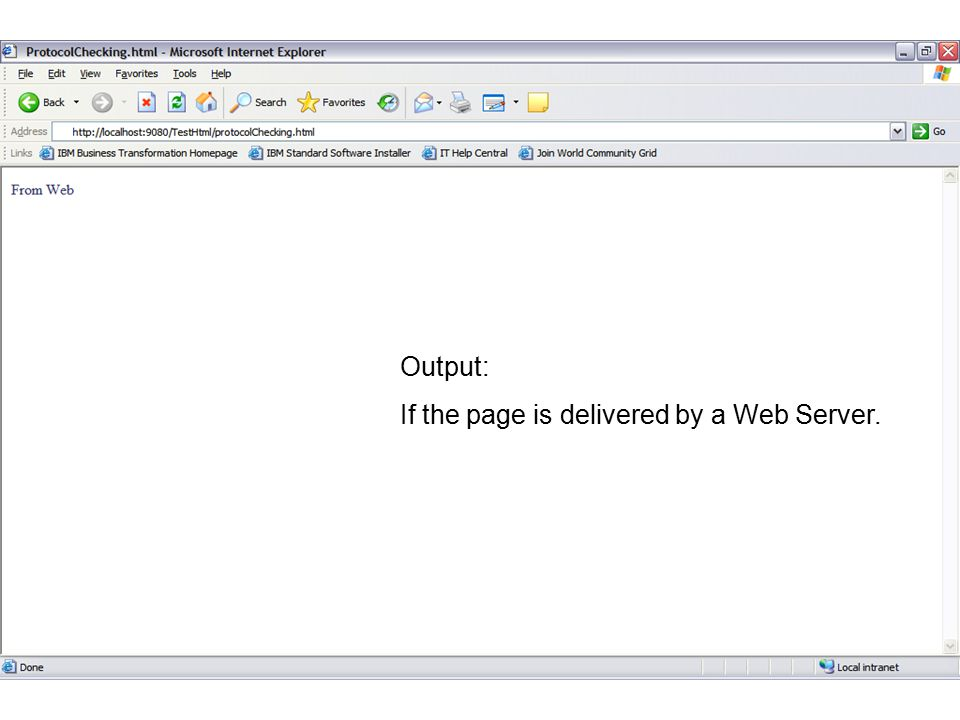 Output: If the page is delivered by a Web Server. FaaDoOEngineers.com