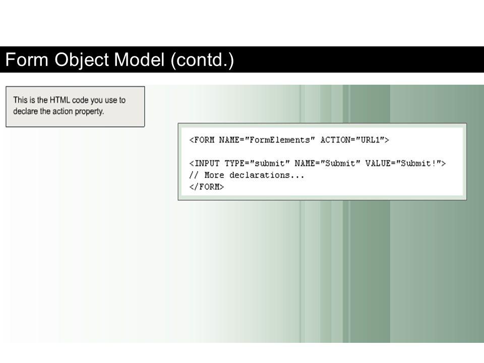 Form Object Model (contd.) FaaDoOEngineers.com
