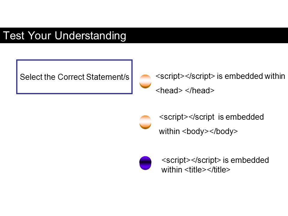Test Your Understanding is embedded within </script is embedded within is embedded within Select the Correct Statement/s FaaDoOEngineers.com