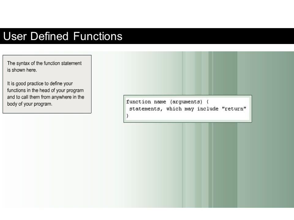 User Defined Functions FaaDoOEngineers.com