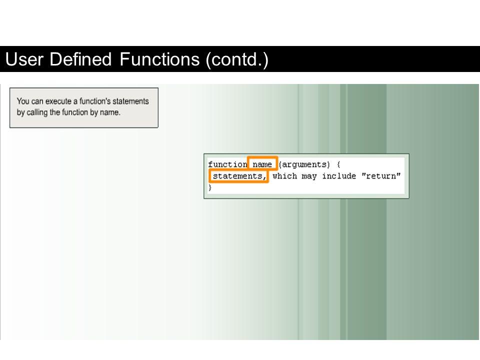 User Defined Functions (contd.) FaaDoOEngineers.com
