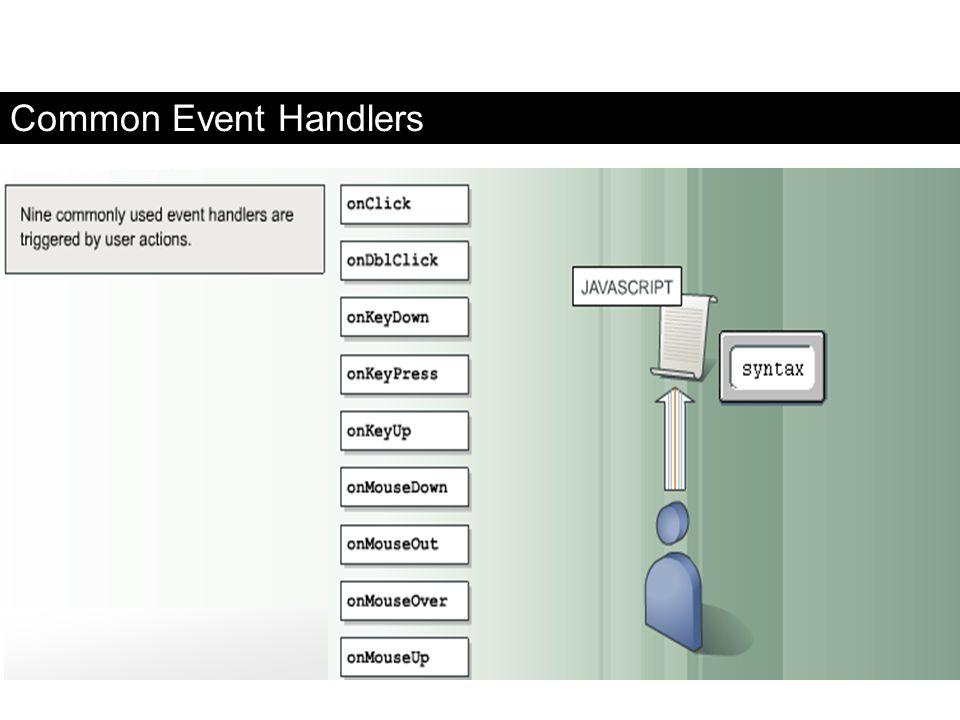 Common Event Handlers FaaDoOEngineers.com