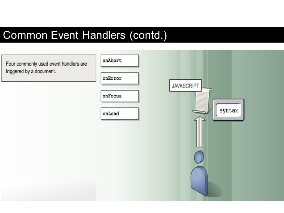Common Event Handlers (contd.) FaaDoOEngineers.com