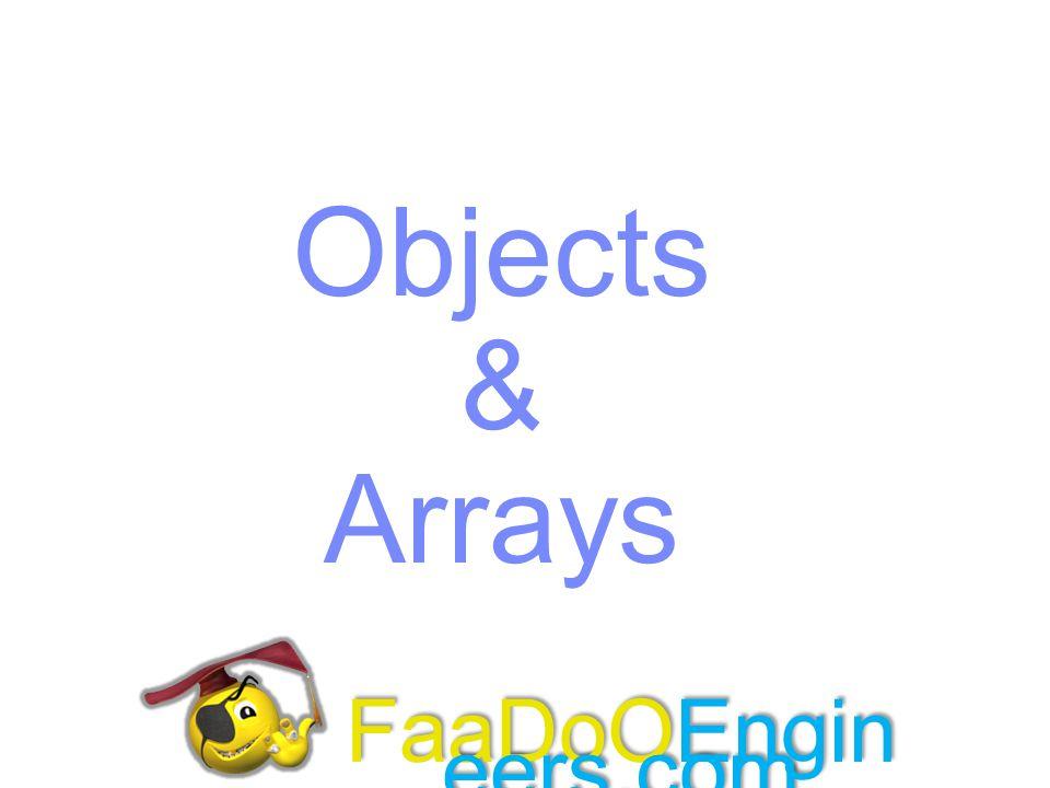 Objects & Arrays FaaDoOEngineers.com