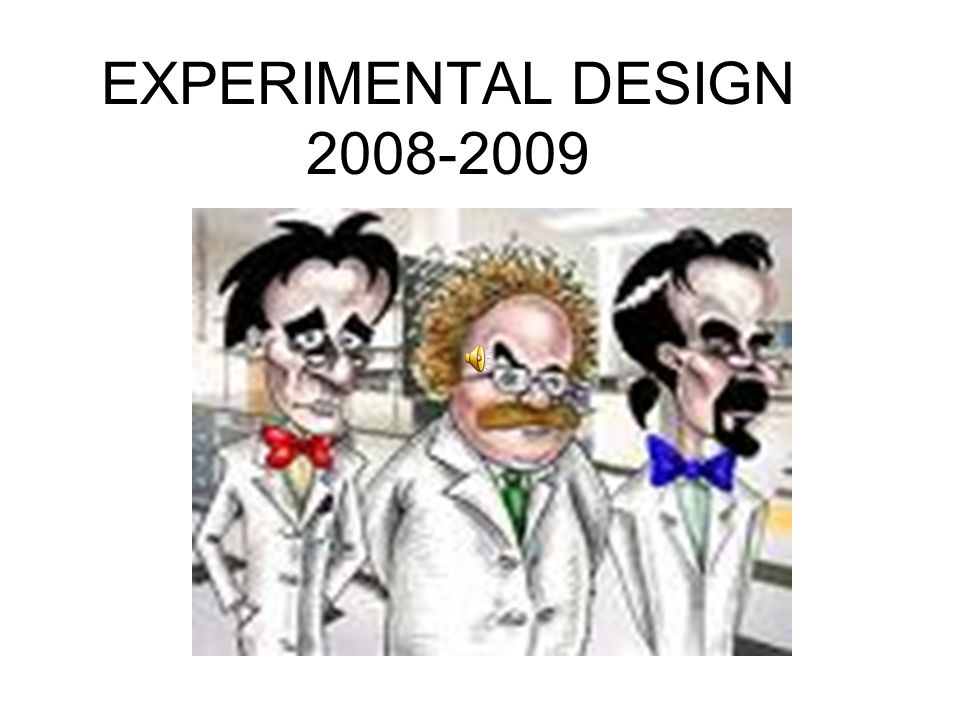 EXPERIMENTAL DESIGN 2008-2009