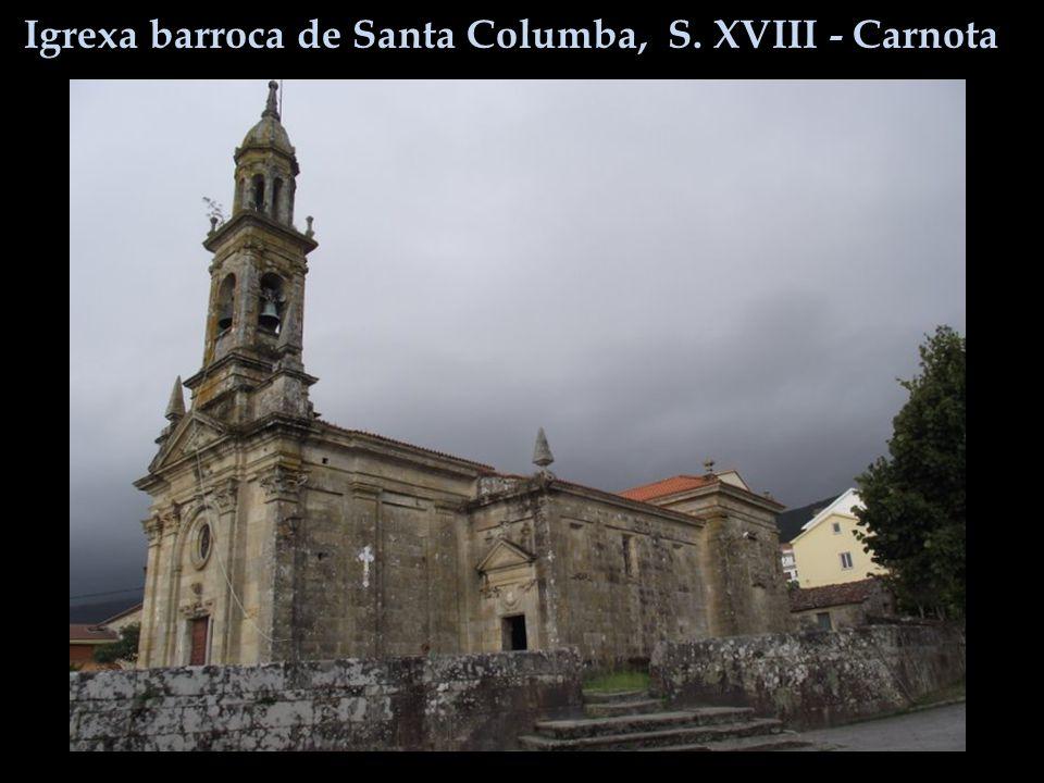 Igrexa barroca de Santa Columba, S. XVIII - Carnota