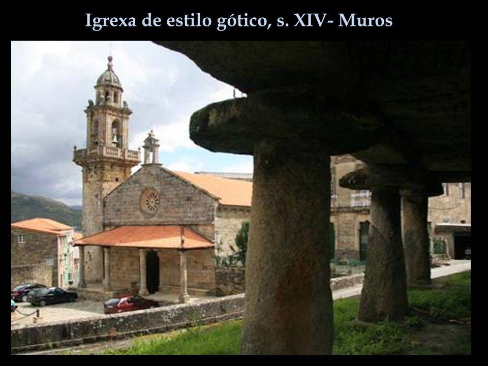 Igrexa de estilo gótico, s. XIV- Muros