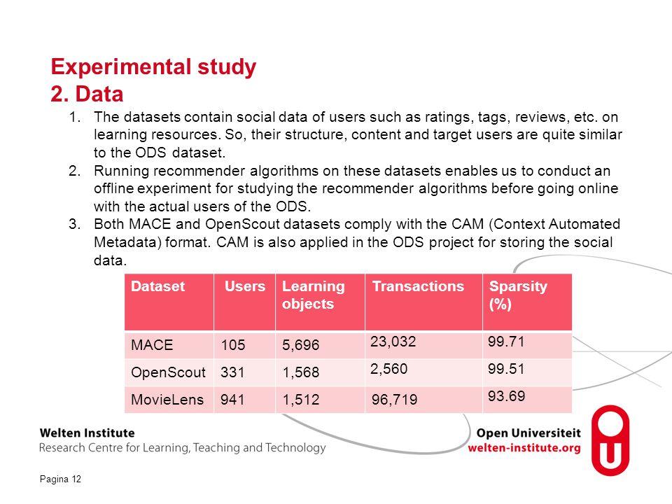 Pagina 12 Experimental study 2.